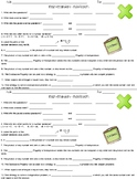 Multiplication Vocabulary Worksheets and Assessments
