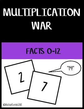 Multiplication War (0-12)