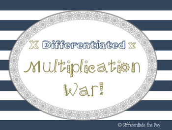 Multiplication War ~ Differentiated Math Facts Practice