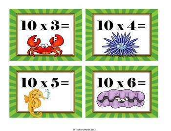 Multiplication Games - War, Anchor Chart, Flash Cards and Quiz!