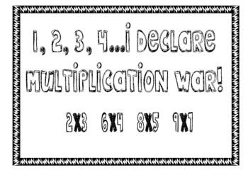Multiplication War (Basic Facts)
