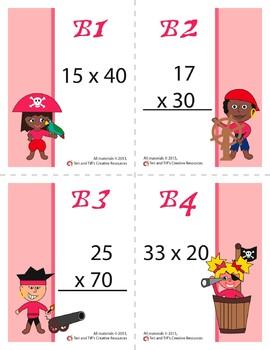 Multiplication War – BUNDLE – 3 Engaging Double-Digit Multiplication Math Games