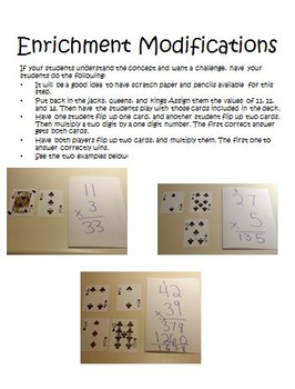 Multiplication War Activities