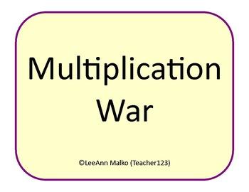Multiplication War - Fun Game