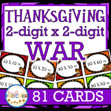 Multiplication War: Thanksgiving (2-digit x 2-digit)