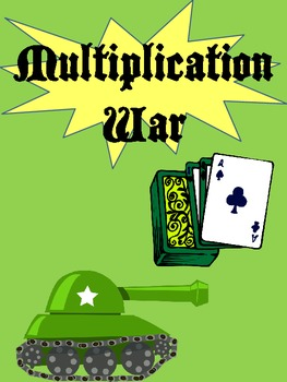Multiplication War with Deck of Cards 3 Center Games