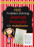 Multiplication: Problem Solving Journal Prompts 3.OA