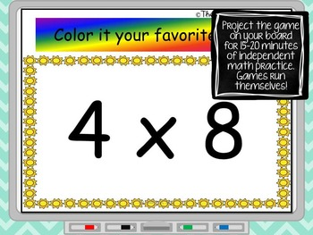 Multiplication - Watch, Think, Color Mystery Pictures