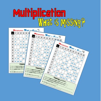 Multiplication:  What is Missing?