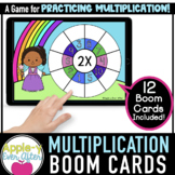 Multiplication Wheel Facts for 1 - 12 | Boom Cards™ - Dist