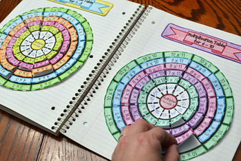 Multiplication Wheel Foldable Bundle (Times Table) 1 Through 10