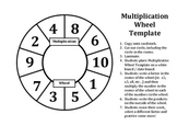 Multiplication Wheel Template to Practice the Basic Facts of Multiplication