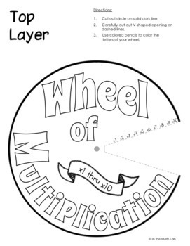 Multiplication Wheel and Spin the Wheel Puzzle Set 1