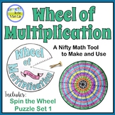 Multiplication Wheel and Spin the Wheel Puzzle Set 1 Distance Learning Packets