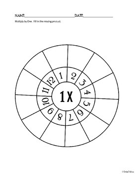 Multiplication Wheels 1-12