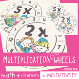Multiplication Fact Activities - Flip Flap Wheels