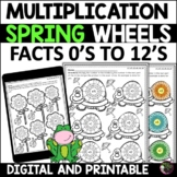 Multiplication Wheels: Spring