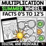 Multiplication Wheels Worksheets   Summer Math   Digital a