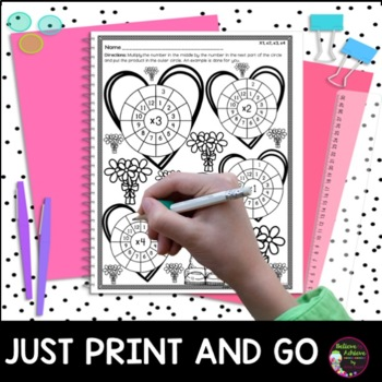 Multiplication Wheels: Valentine's Day