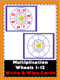 Multiplication Wheels Write & Wipe Cards