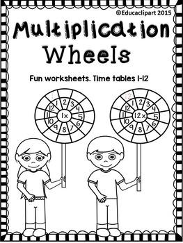 Multiplication Wheels - fun worksheets