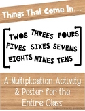 Multiplication Activity & Poster EDITABLE