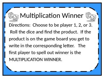 Multiplication Winner