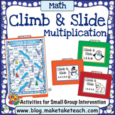 Multiplication - Winter Themed Climb & Slide