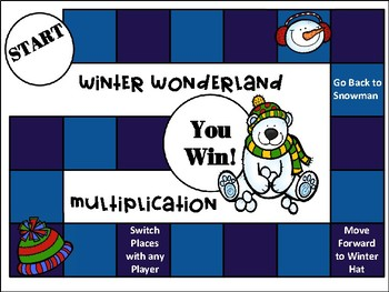 Multiplication Winter Wonderland QR Code Task Cards, SCOOT, and Board Game
