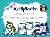 Multiplication Winter Wonderland QR Code Task Cards, SCOOT