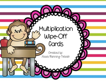 Multiplication Wipe-Off Cards (Facts 1-12)