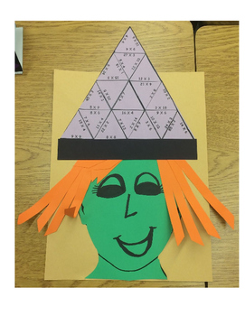 Multiplication Witch Hat
