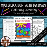 Multiplication With Decimals (2, 3, & 4 Digit Factors)