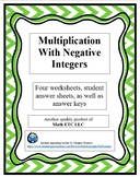 Multiplication With Negative Integers