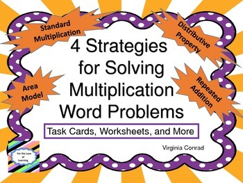Multiplication Word Problem Strategies