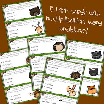 Multiplication Woodland Animal Themed Code Challenge