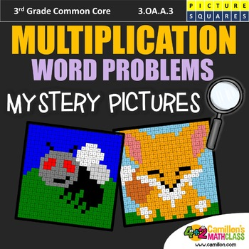 3rd Grade Multiplication Word Problems Assessment, Worksheets Mystery Pictures