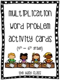 Multiplication Word Problem Activity Cards