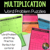 Multiplication Word Problem/Array Puzzles: Perfect for 3rd Grade Centers