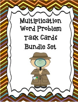 Multiplication Word Problem Bundle Set
