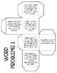 Multiplication Word Problem Cubes Freebie