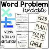 Word Problem Foldable (Addition, Subtraction, Multiplication, Division)