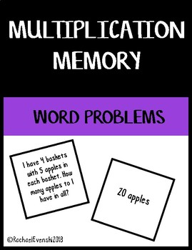 Multiplication Word Problem Memory