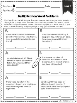 3.OA.3 Multiplication Word Problems