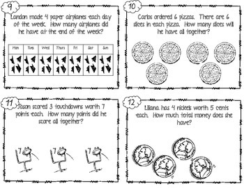 Multiplication Word Problem Scoot