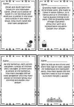 Multiplication Word Problem Solving Task Centers Activities