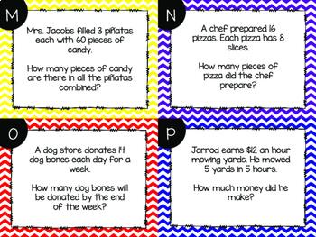 Multiplication Word Problem Task Cards {Paper + Digital}