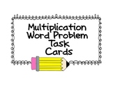 Multiplication Word Problem Task Cards - Set #1 (UPDATED - Now has answer key)