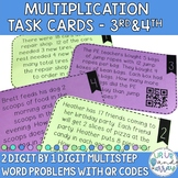 Multi-Step Multiplication Word Problem Task Cards with QR Codes