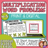 Mutliplication Word Problem Task Cards | Multiplication Story Problems